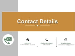 Contact Details Ppt PowerPoint Presentation Icon Clipart Images