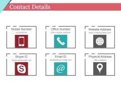 Contact Details Ppt PowerPoint Presentation Inspiration Clipart