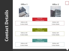 Contact Details Ppt PowerPoint Presentation Layouts Icon