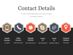 Contact Details Ppt PowerPoint Presentation Model
