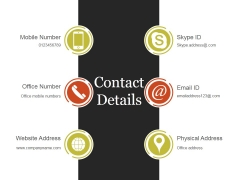 Contact Details Ppt PowerPoint Presentation Shapes