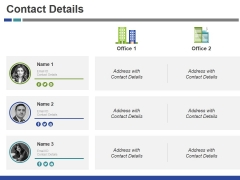 Contact Details Ppt PowerPoint Presentation Styles Demonstration