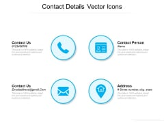 Contact Details Vector Icons Ppt PowerPoint Presentation Gallery Background Images PDF