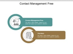 Contact Management Free Ppt PowerPoint Presentation Layouts Layouts