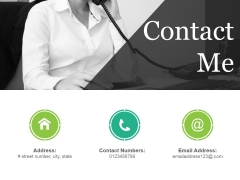 Contact Me Ppt PowerPoint Presentation Portfolio Background