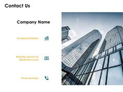 Contact Us Company Ppt PowerPoint Presentation Outline Gridlines