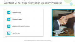 Contact Us For Paid Promotion Agency Proposal Sample PDF