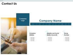 Contact Us Management Ppt PowerPoint Presentation Inspiration Master Slide