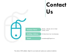 Contact Us Marketing Strategy Ppt PowerPoint Presentation Ideas