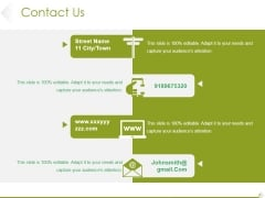 Contact Us Ppt PowerPoint Presentation Infographic Template Structure