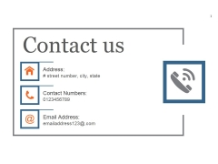 Contact Us Ppt PowerPoint Presentation Visual Aids