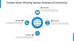 Contact Vector Showing Various Channels Of Connectivity Ppt PowerPoint Presentation Gallery Display PDF
