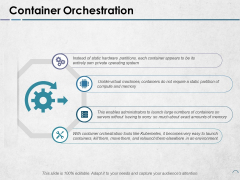Container Orchestration Ppt PowerPoint Presentation Portfolio Example File