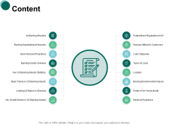 Content Banking Structure Ppt PowerPoint Presentation Portfolio Diagrams