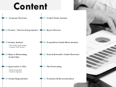 Content Company Overview Ppt PowerPoint Presentation Infographics Visual Aids
