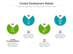 Content Development Website Ppt PowerPoint Presentation Styles Designs Cpb Pdf