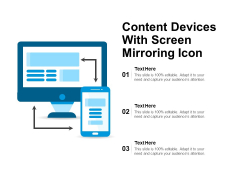 Content Devices With Screen Mirroring Icon Ppt PowerPoint Presentation Model Files PDF