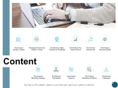 Content Ecommerce Key Growth Drivers Ppt PowerPoint Presentation Infographics Visual Aids