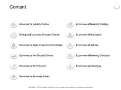 Content Ecommerce Sales Ppt PowerPoint Presentation Inspiration Background Designs