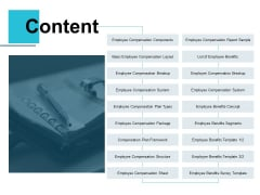 Content Employee Compensation Ppt PowerPoint Presentation Ideas Introduction