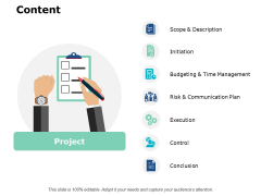 Content Execution Ppt PowerPoint Presentation Ideas Grid
