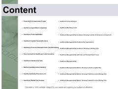 Content Financial Analysis Ppt PowerPoint Presentation Portfolio Portrait