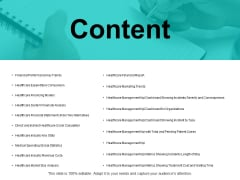 Content Financial Performance Key Trends Ppt PowerPoint Presentation Ideas Picture