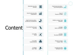 Content Fixed Income Securities Categorization Ppt PowerPoint Presentation Inspiration Graphics