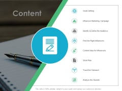 Content Influencer Marketing Ppt PowerPoint Presentation Inspiration Infographics