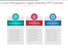 Content Management Digital Marketing Ppt Example
