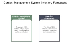 Content Management System Inventory Forecasting Ppt PowerPoint Presentation Gallery Show
