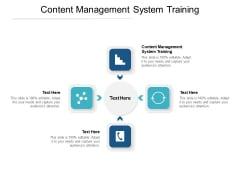 Content Management System Training Ppt PowerPoint Presentation Summary Tips Cpb Pdf