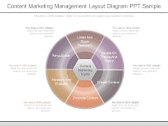 Content Marketing Management Layout Diagram Ppt Sample