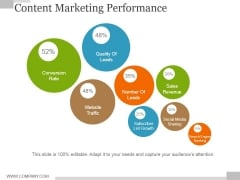 Content Marketing Performance Template 1 Ppt PowerPoint Presentation Icon Skills