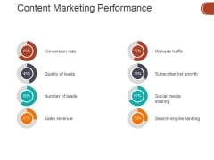 Content Marketing Performance Template 2 Ppt PowerPoint Presentation Inspiration Portfolio