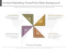 Content Marketing Powerpoint Slide Background