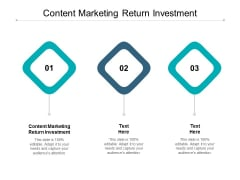 Content Marketing Return Investment Ppt PowerPoint Presentation Outline Display Cpb
