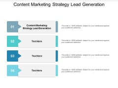 Content Marketing Strategy Lead Generation Ppt PowerPoint Presentation Outline Outfit Cpb