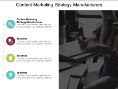 Content Marketing Strategy Manufacturers Ppt PowerPoint Presentation Gallery Inspiration Cpb