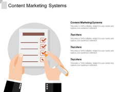 Content Marketing Systems Ppt PowerPoint Presentation Portfolio Influencers