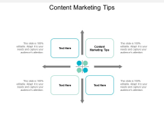 Content Marketing Tips Ppt PowerPoint Presentation Inspiration Deck Cpb