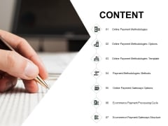 Content Online Payment Methodologies Ppt PowerPoint Presentation Infographic Template Information