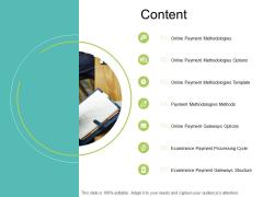 Content Online Payment Methodologies Ppt PowerPoint Presentation Portfolio Introduction