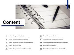 Content Portfolio Management Ppt PowerPoint Presentation Infographic Template Display