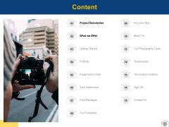 Content Project Description Ppt PowerPoint Presentation Portfolio Clipart