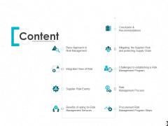 Content Risk Management Ppt PowerPoint Presentation Professional Templates