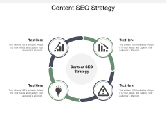 Content SEO Strategy Ppt PowerPoint Presentation Slides Guidelines Cpb