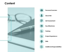 Content Self Assessment Ppt PowerPoint Presentation Professional Introduction