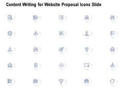 Content Writing For Website Proposal Icons Slide Ppt Professional Outfit PDF