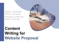 Content Writing For Website Proposal Ppt PowerPoint Presentation Complete Deck With Slides